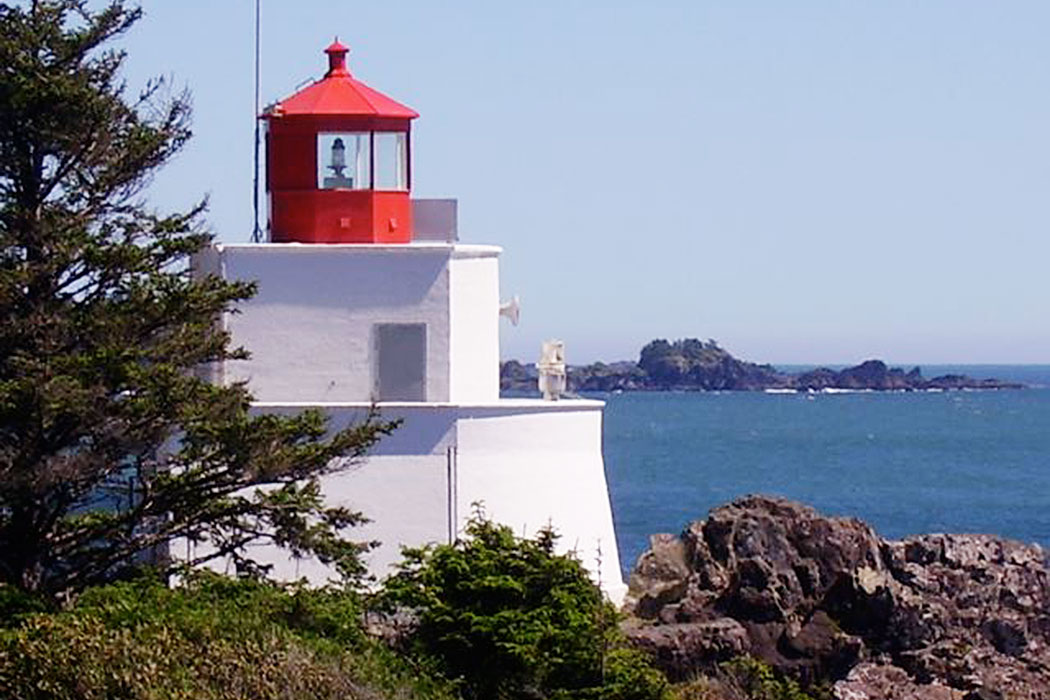 Ucluelet Lighthouse,  Wild Pacific Trail, Ocean Mist Guesthouse, Ucluelet, BC