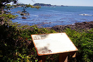 Interpretive Plaques, Wild Pacific Trail, Ocean Mist Guesthouse, Ucluelet, BC